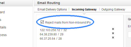 reject mail